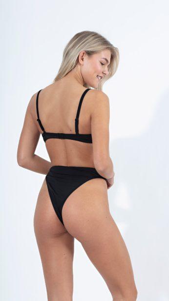 bikini slip μαύρο ψηλόμεσο brazilian